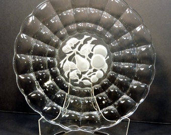 Constellation Platter / Tray with Intaglio Fruit Vintage