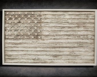 Vintage American Flag Wall Art handmade vintage wood flags andchrisknightcreations on etsy