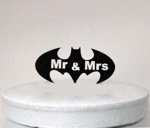 Hochzeitstorte Topper - Batman Symbol und Herr & Frau