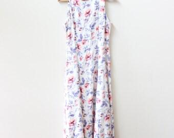 White Flower Maxi Dress