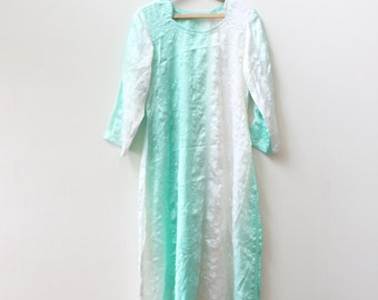 Mint Indian Silk Dress