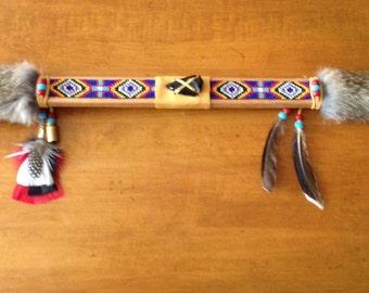 "Beautiful American Indian PEACE PIPE 27"""