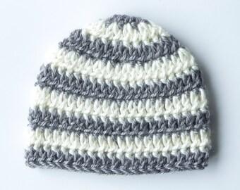 Baby Boy Hat Baby Boy Hats Striped Hat Crochet Baby Boy Hats Baby Boy Beanie Newborn Photography Props Baby Boy Hat with Stripes Knit Hat