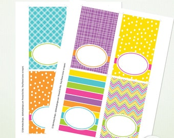 Editable PDF Party Food Buffet Labels - Candy Store Collection -  Printable  Instant Download G7524