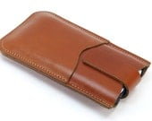 Leather iPhone 6 PLUS Otterbox Holster, Belt Loop, Card Pocket, Magnetic Snap