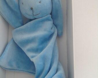 Blue bunnyrabbit Bamboo baby blanket