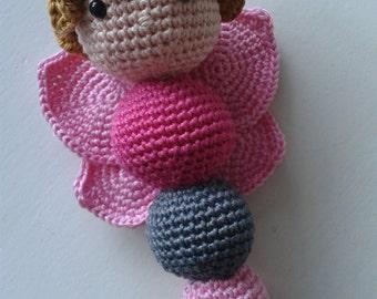 Dutch Crochet Pattern for a  Butterfly Rattle
