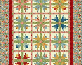 Twirling Tulips Quilt Pattern