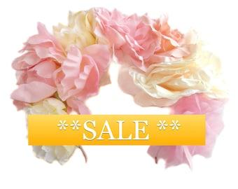 SALE pastel flower headpiece