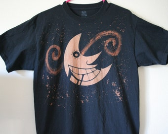 Anime Moon Inspired Hand Bleached Shirt