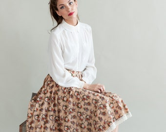 Floral 1950's inspired circle skirt - 25% off!