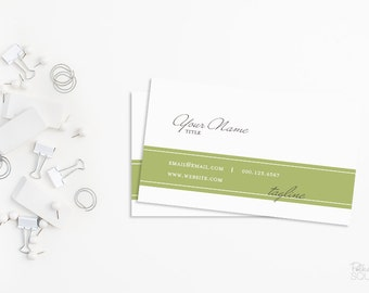Simple business card design Green business card White business card Printable business card Professional business card