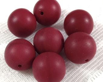 4 Burgundy Reproduction Czech Glass Beads