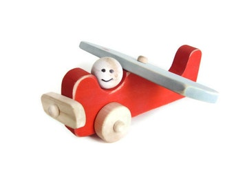 Wooden toy airplane, Wood Plane, Toy Plane
