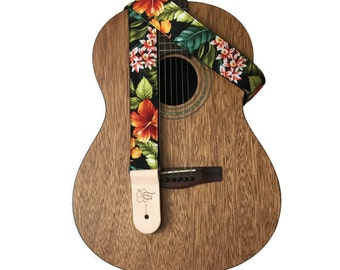 "Tropical Print Guitar Strap - 2 "" wide"