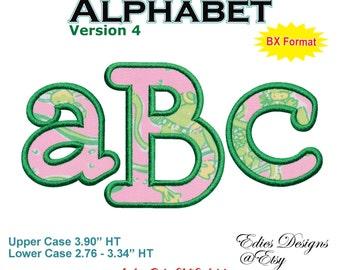 Applique Alphabet Ver 4 Machine Embroidery Designs Monograms BX Format Monogram Fonts Digital Download
