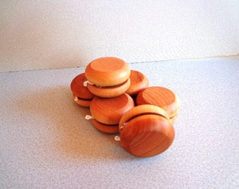 12  Wooden YOYO's - Hand Polished - Party Favor - Birthday Give Aways - All Natural - Eco Friendly Kids Toy