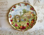 Vintage Royal Albert Decorative Old Country Roses Garden Plate