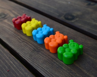 Teddy Bear Crayons set of 40 - Party Favors - Kids Crayons