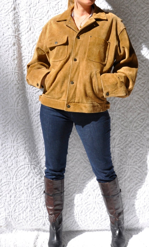 Ralph Lauren Leather Jacket W Red Flannel Plaid Lining