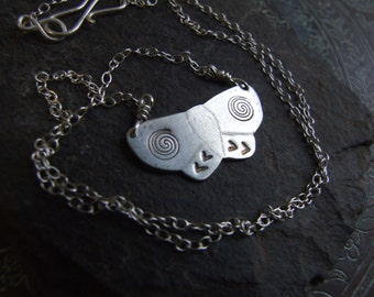 Mystical Moth // Handmade Sterling Silver Totem Necklace