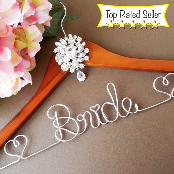 Surprise Sale Personalized Bridal Wedding Hanger Bridal: Made In USA. Personalized Bridal Wedding Hanger. By