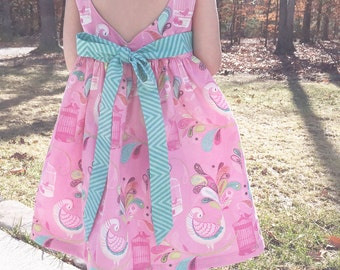 READY-TO-SHIP -- 3T -- Sweetheart Dress -- Toddler Heart Cut-Out Dress