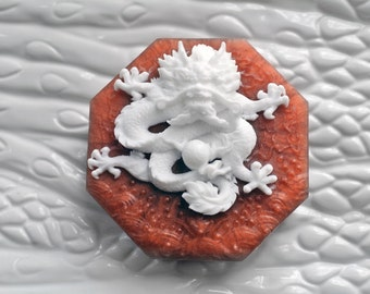 Chinese Dragon Soap Hexagon - 5 Clawed Dragon and the Pearl