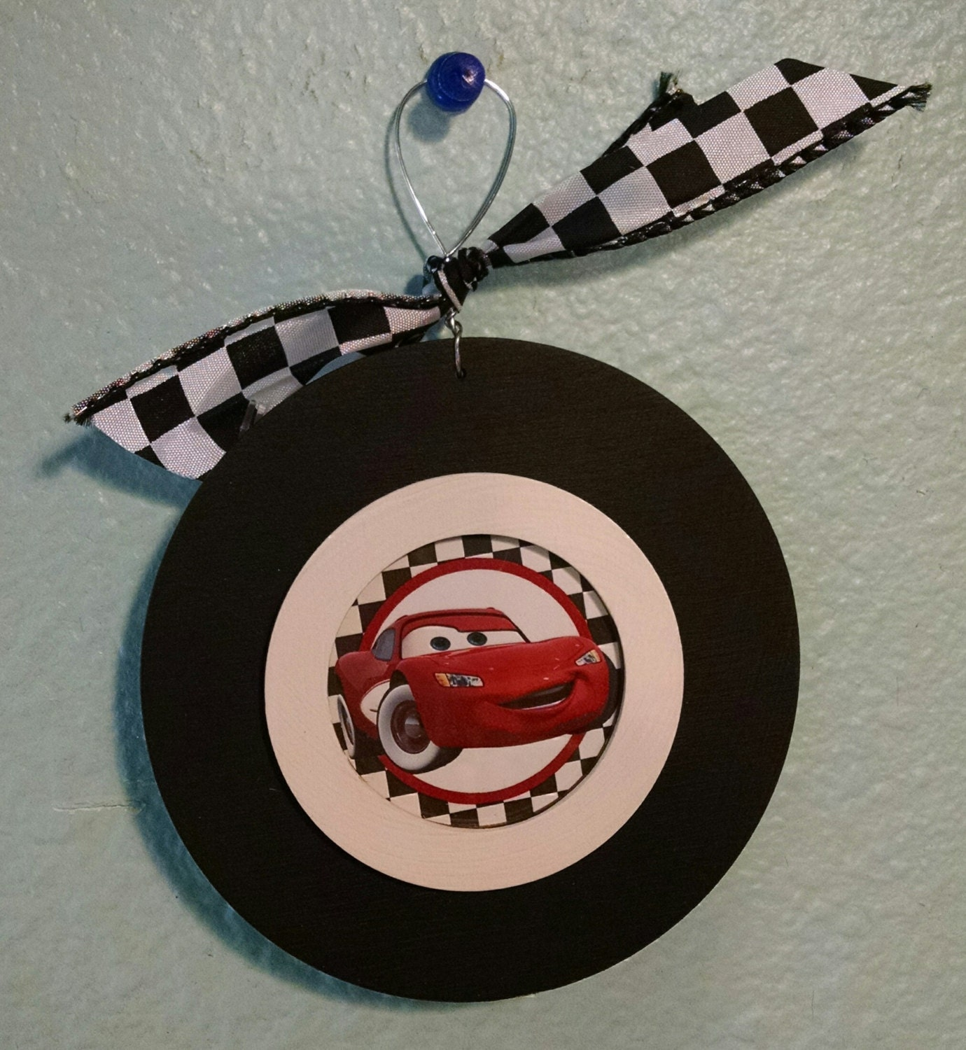 Cars Christmas Ornament's Lightning McQueen Darrel