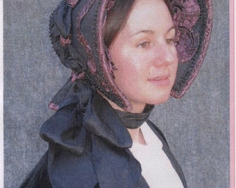 Early Victorian - Civil War era 1845-1865 Bonnet Sewing Pattern by Lynn McMasters