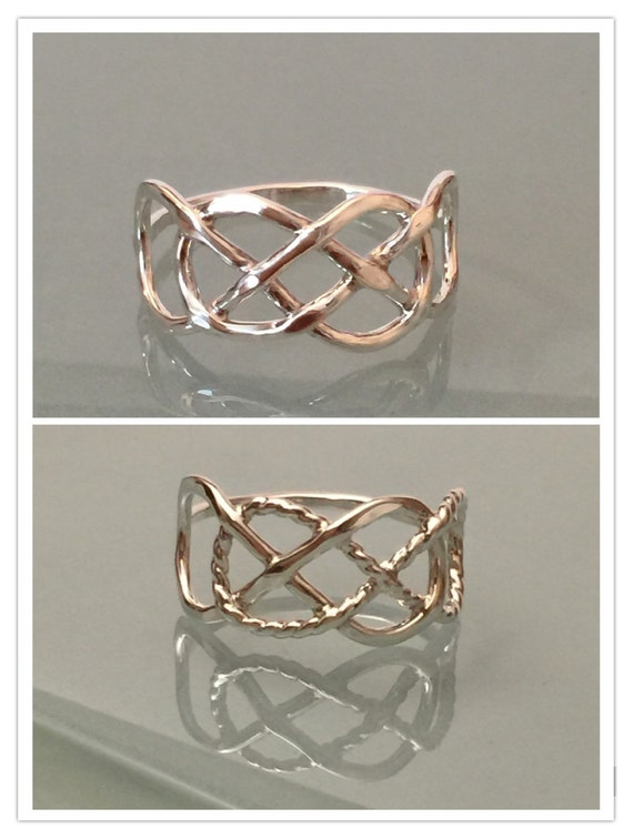 Sterling Silver Double Infinity Ring, Double Infinity Ring, Infinity ring