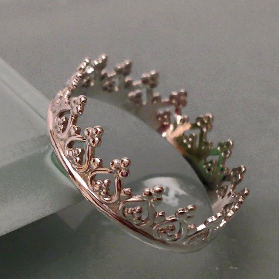 sterling silver crown ring crown ring silver crown ring