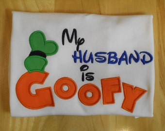 Mister Miss Mouse My Husband is Goofy Shirt - Great for your Magical Vacation