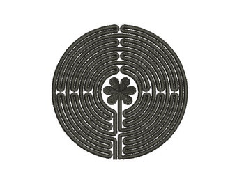 Machine Embroidery Design Instant Download - Chartres Labyrinth 1 (8 Bend)