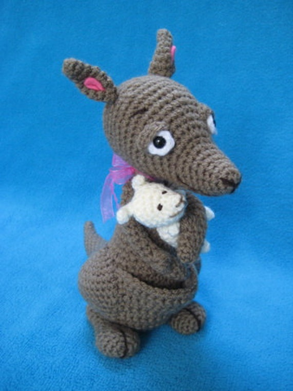 Amigurumi Kangaroo Mom And Baby Animal Toy Doll Crochet ...