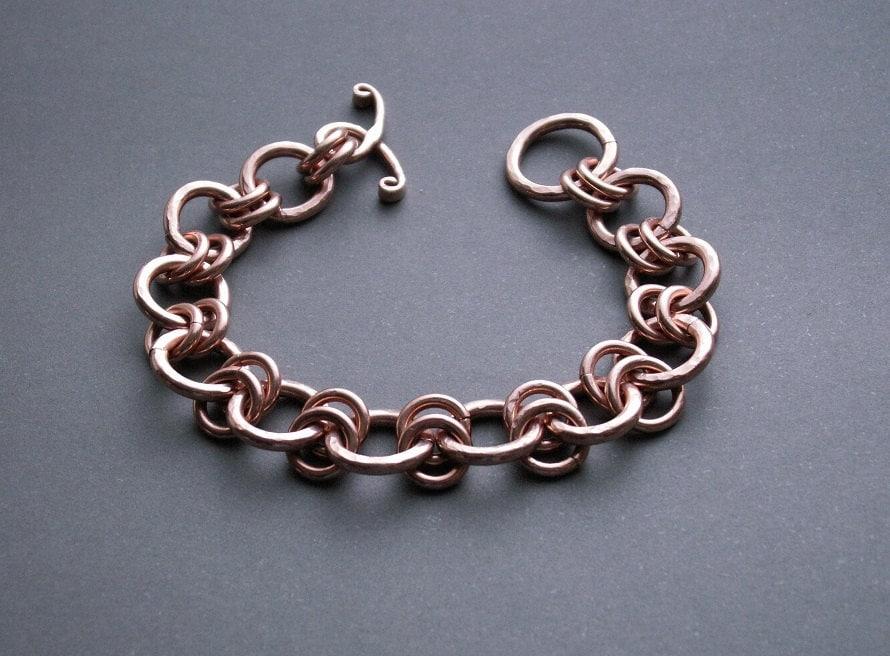 copper link bracelet copper mens bracelet men 39 s metal. Black Bedroom Furniture Sets. Home Design Ideas