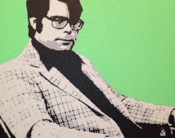 "Stephen King Custom Pop Art Painting 20""x20"" Canvas"