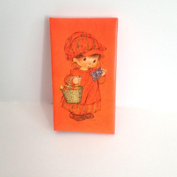 Hallmark Wedding Album: Vintage Hallmark Photo Album Orange Cover With Child And