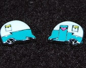 Vintage Camper Trailer Charm - Fits Origami Owl Lockets - Double Sided Charm
