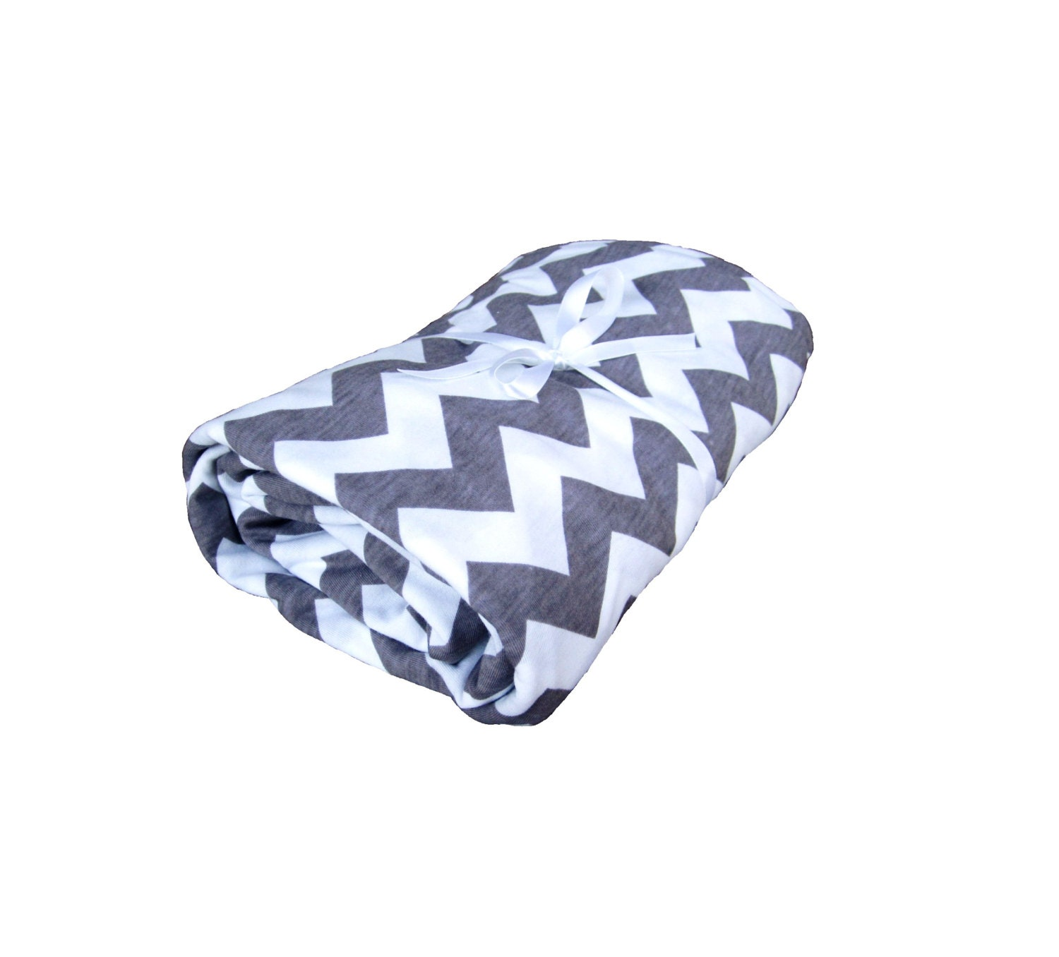 Chevron Jersey Knit Fitted Sheet Fitted by LittleFootBoutique