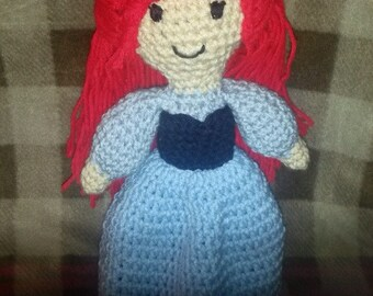 Hand crocheted Ariel The Little Mermaid Doll