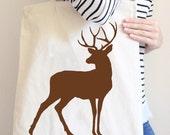Deer Tote Bag in Natural Color