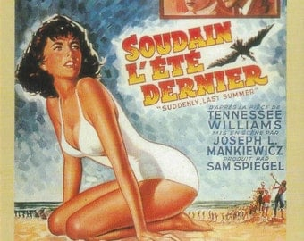 Suddenly, Last Summer 4x6 Postcard Elizabeth Taylor Montgomery Clift