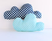 Cloud Pillows- Set of 2 Patterned Cloud Pillows