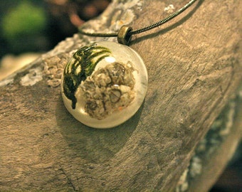Barnacles and moss pendant