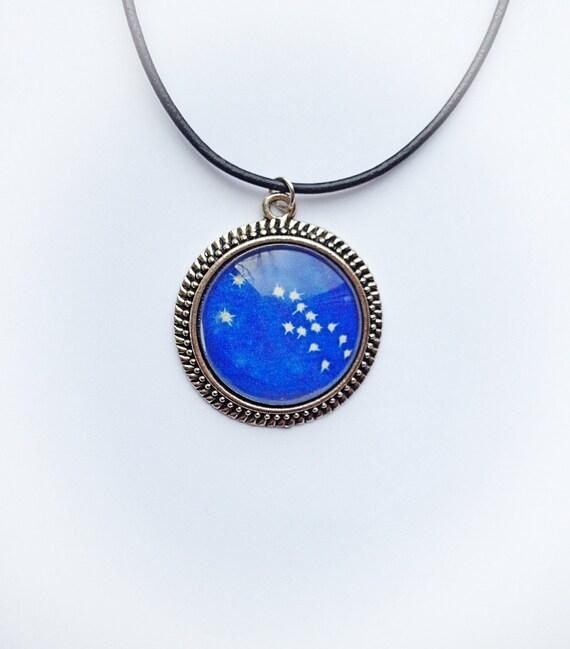 Taurus Constellation Necklace: Taurus Zodiac Star Constellation Necklace