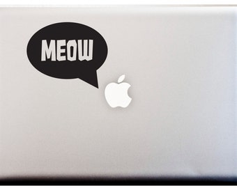 LAPTOP DECAL // The Cats Meow Caption Decal Cat Person