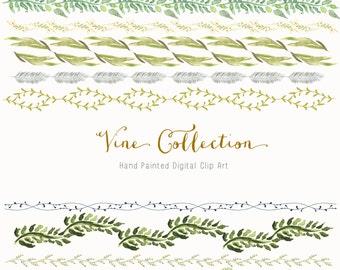 Hand Drawn Vine Border Collection Clip Art