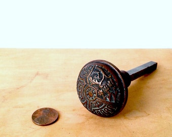 Bronze DoorBell Pull Knob Rare Circa '1880'  Aesthetic. Please See All Photos.