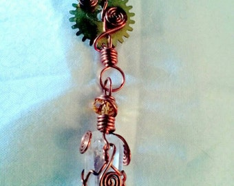 "4.5"" Steampunk Wire Wrap Pendulum"